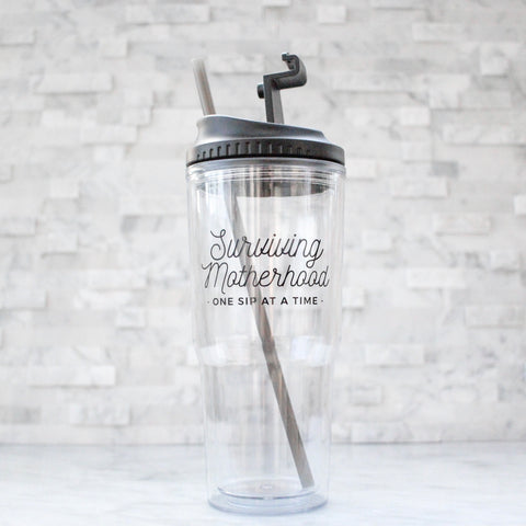 Surviving Motherhood 24oz Tumbler [ships in 1-2 business days]
