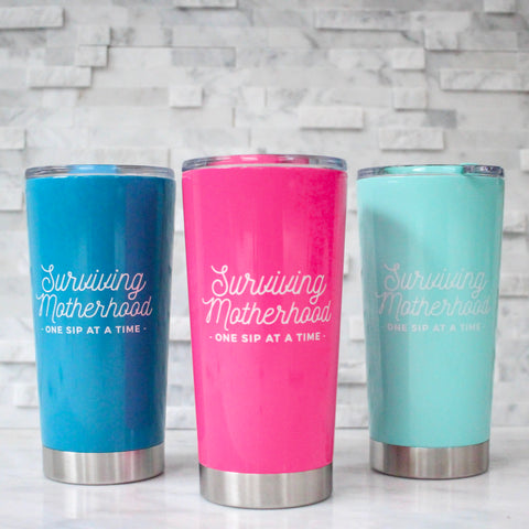 Surviving Motherhood 21oz Stainless Tumbler