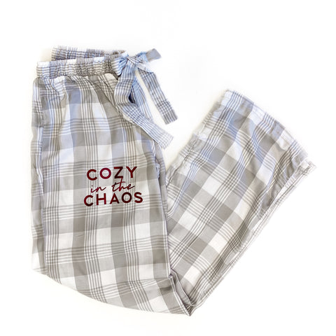 Gray Plaid Cozy in the Chaos Lounge Pants [Ships in 3-7 business days]