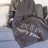 Home is my Happy Place Fleece Blanket [ships in 3-5 business days]
