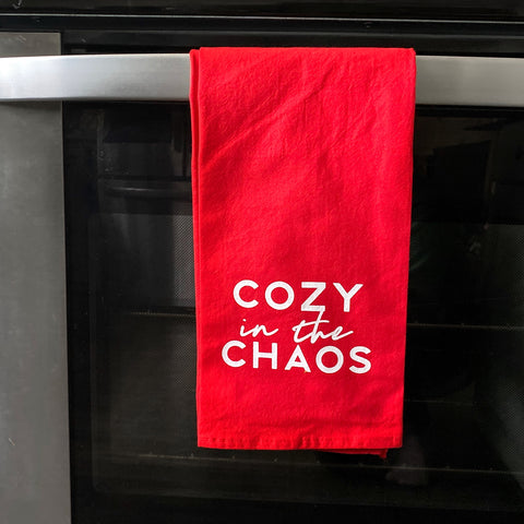 Cozy in the Chaos Flour Sack Dish Towels [ships in 3-5 business days]