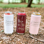 GLITTER BLUSH Surviving Motherhood  Skinny Can Cooler [ships in 3-5 business days]
