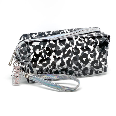 Clear Leopard Zipper Pouch [ships in 3-5 business days]