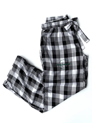 Black + White Plaid Lounge Pants [Ships in 3-7 business days]