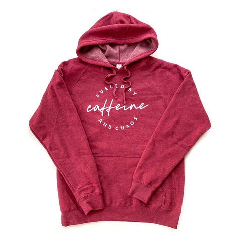 Fueled by Caffeine & Chaos Unisex Hoodie [Ships in 3-5 business days]