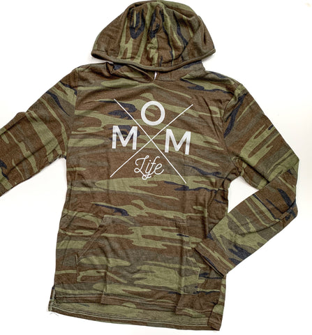 Mom Life Camo Lightweight Hoodie [Ships in 3-5 business days]