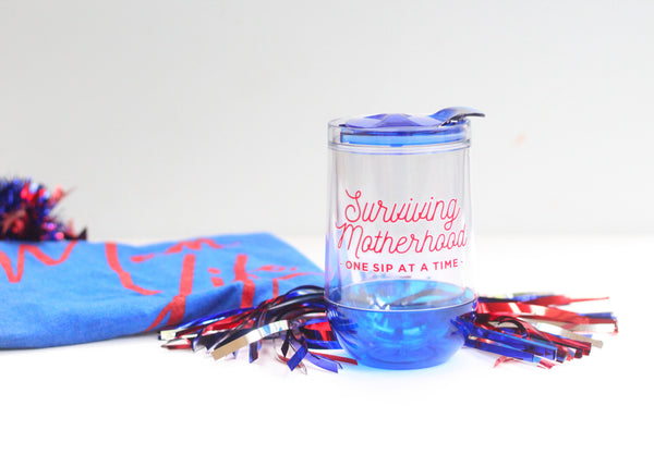 Surviving Motherhood Wine Tumbler