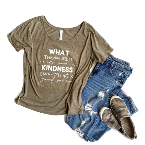 What the World Needs Slouchy Tee [ships in 3-5 business days]