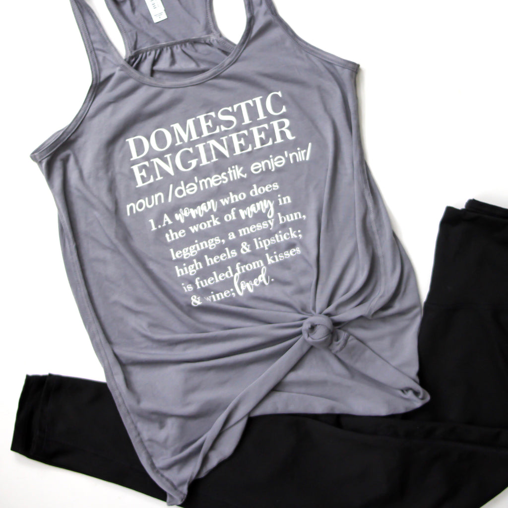 Domestic Engineer Racerback Tank