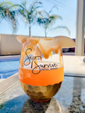 Sip + Survive Stemless Wine Glass [ships in 3-5 business days]