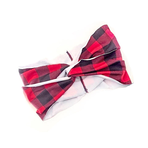 Buffalo Plaid Women's Headband [ships in 3-5 business days]