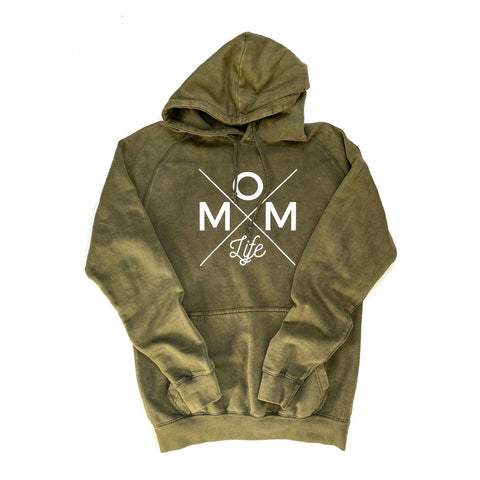 Mom Life Mineral Wash Hoodie [Ships in 3-5 Business Days]
