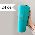 Fueled by Caffeine and Chaos TEAL Stainless Tumbler [ships in 3-5 business days]