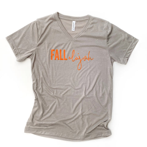 Fallelujah Stone Marble V-neck Tee [ships in 3-5 business days]