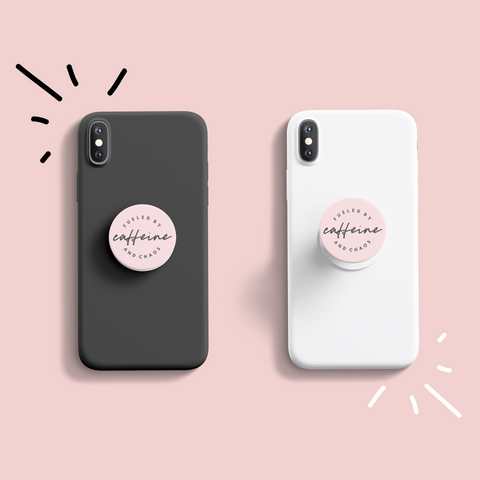 Fueled by Caffeine & Chaos Pop Socket [ships in 2-5 business days]