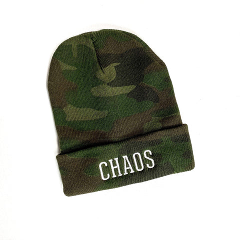 Camo Chaos Winter Beanie [Ships in 3-5 business days]