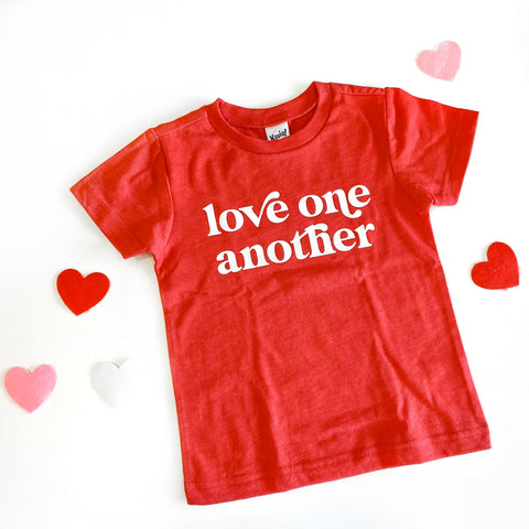 Love One Another RED Kids Tees [ships in 3-5 business days]
