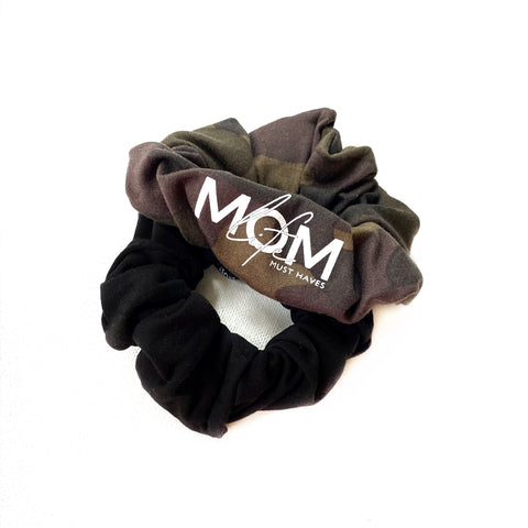 Camo + Black Handmade Scrunchie Set [ships in 3-5 business days]