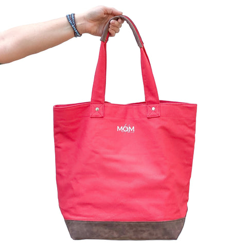 Signature Canvas Tote - CORAL [ships in 3-5 business days]