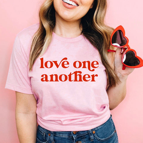 Pink Love One Another Tee [ships in 3-5 business days]