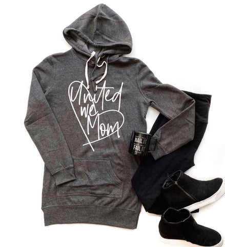 United we Mom Hoodie Dress [ships in 3-5 business days]