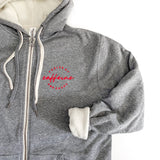 Fueled by Caffeine & Chaos Unisex Sherpa Zip Up Hoodie [Ships in 3-5 business days]