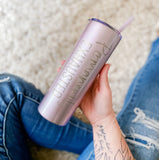 ORCHID GLITTER Permanently Exhausted Stainless Tumbler [ships in 3-5 business days]