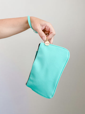 Signature Turquoise Wristlet [ships in 3-5 business days]