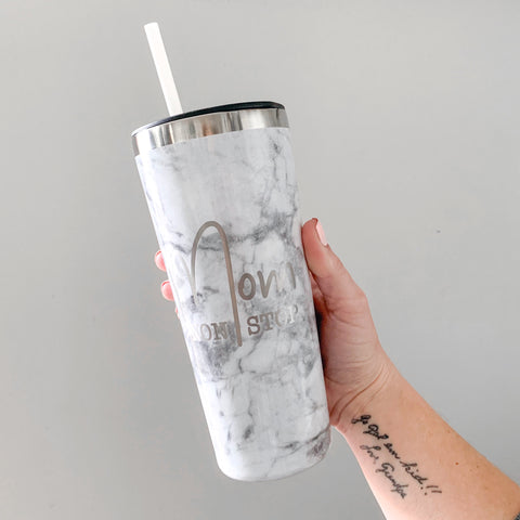 Mom Non Stop 22oz Marble Stainless Tumbler [ships in 1-3 business days]