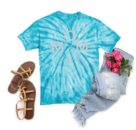 Mom Life Turquoise Tie Dye Tee [ships in 3-7 business days]