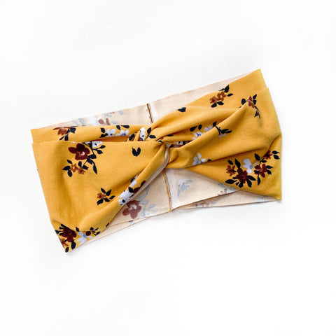Mustard Floral Women's Headband [ships in 3-5 business days]