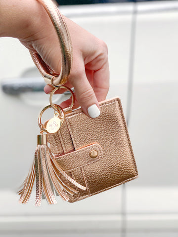 Rose Gold Keychain Bracelet + Wallet [ships in 3-5 business days]