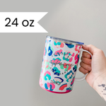Fueled by Caffeine and Chaos Leopard MEGA MUG [ships in 3-5 business days]