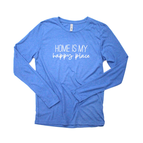 Home Is My Happy Place Periwinkle Long Sleeve [Ships in 3-5 Business Days]