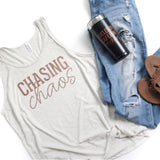 Chasing Chaos Unisex Oatmeal Tank [ships in 3-5 business days]