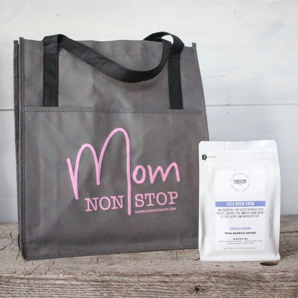 Mom Non Stop Grocery Tote Bag [Ships in 3-5 business days]