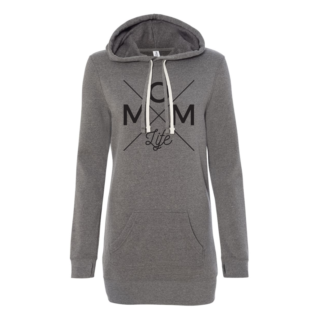 Mom Life Fleece Hoodie Dress [ships in 2-4 business days]