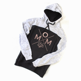 Mom Life Colorblock Hoodie - Rose Gold [Ships in 3-5 Business Days]