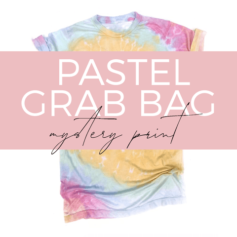PASTEL Tie Dye Burnout Tee GRAB BAG [ships in 3-5 business days] FINAL SALE