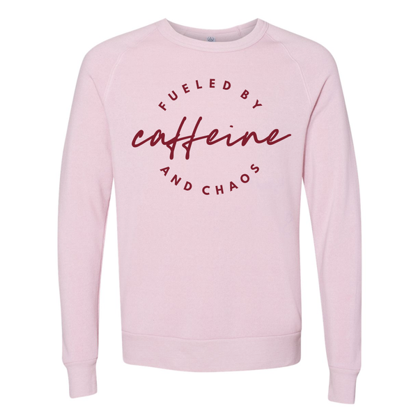 Fueled By Caffeine & Chaos Lightweight Pullover Hoodie