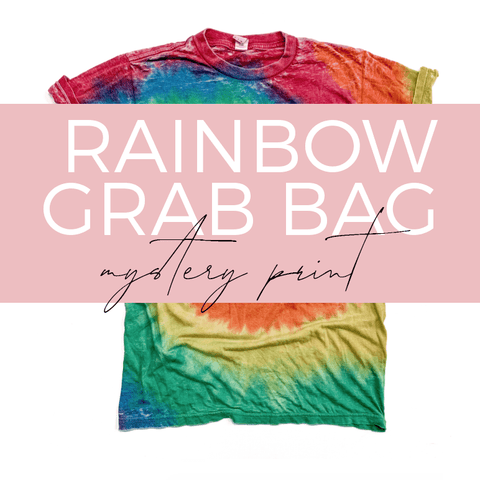 RAINBOW Tie Dye Burnout Tee GRAB BAG [ships in 3-5 business days] FINAL SALE