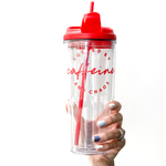 Red Fueled by Caffeine & Chaos 24oz Tumbler [ships in 1-3 business days]