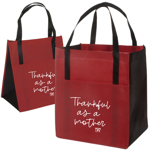 Thankful as a Mother Grocery Tote Bag [Ships in 3-5 business days]