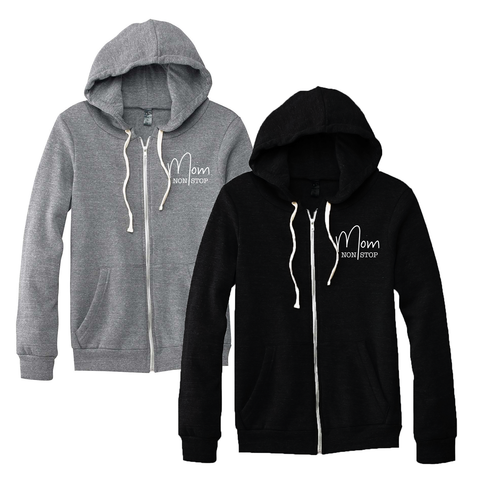 Mom Non Stop - Lightweight Fleece Zip Up - [Ships in 2-4 Business Days]