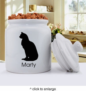 Classic Silhouette Cat Treat Jar - Atilla