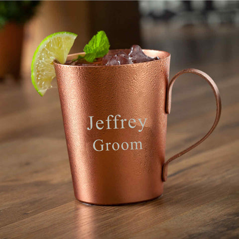 14oz Aluminum Mug with Copper Plating