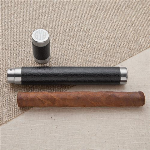 Black Leather Cigar Holder