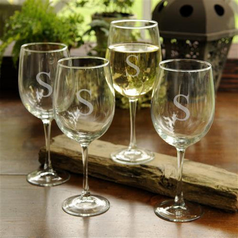 White Wine Glasses Set of 4