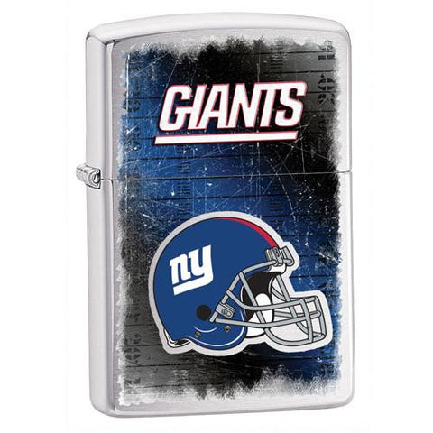 NFL Brushed Chrome Zippo Lighter - GIANTS