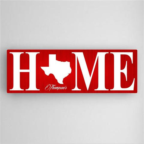 Home State Canvas Sign